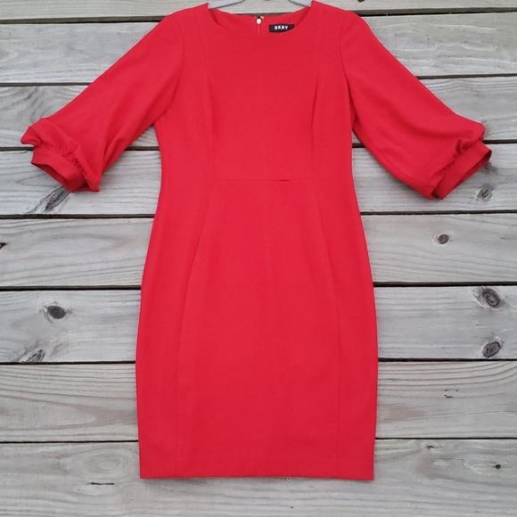 Dkny Dresses & Skirts - DKNY Balloon Sleeve Dress Size 10